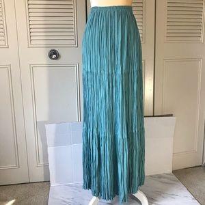 Double DD ranchwear maxi skirt in Teal